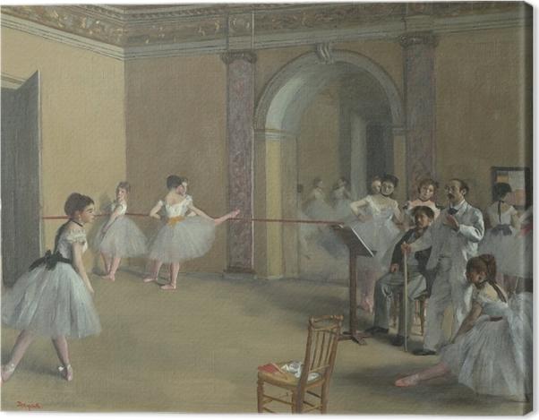 Leinwandbild Edgar Degas - Ballettsaal der Oper in der Rue Le Peletier - Reproduktion