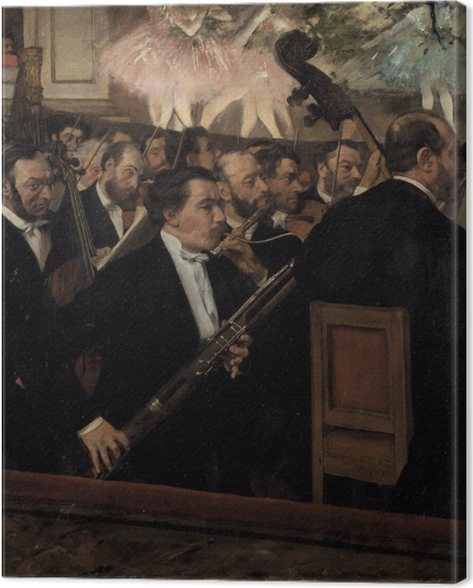 Leinwandbild Edgar Degas - Das Orchester der Opera - Reproduktion