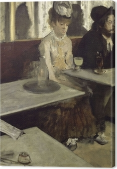 Leinwandbild Edgar Degas - Der Absinth (In einem Café)