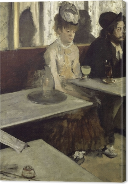 Leinwandbild Edgar Degas - Der Absinth (In einem Café) - Reproduktion