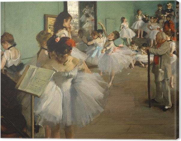 Leinwandbild Edgar Degas - Der Tanzunterricht - Reproduktion