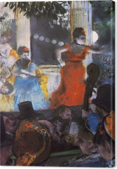 Leinwandbild Edgar Degas - Im Konzertcafé Les Ambassadeurs - Reproduktion