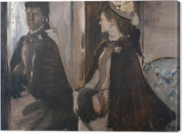 Leinwandbild Edgar Degas - Madame Jeantaud vor dem Spiegel - Reproduktion