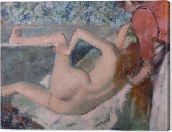 Leinwandbild Edgar Degas - Nach dem Bad - Reproduktion