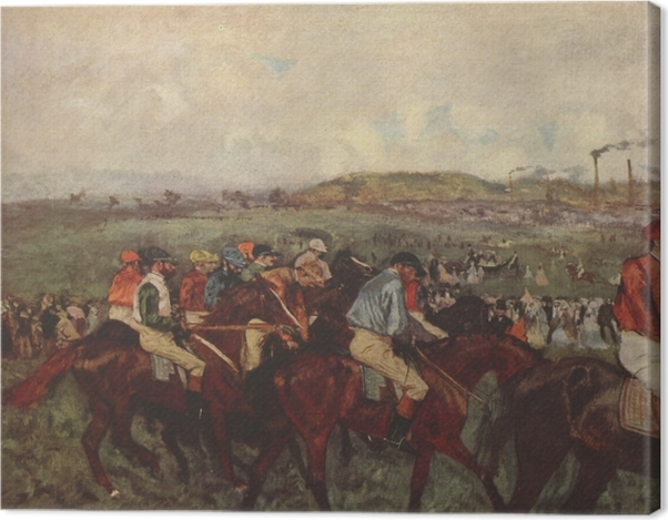 Leinwandbild Edgar Degas - Pferderennen - Reproduktion