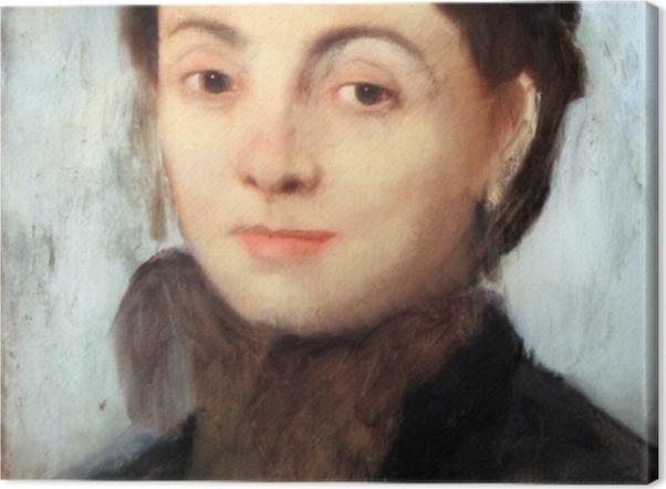 Leinwandbild Edgar Degas - Porträt der Josephine Gaujelin - Reproduktion
