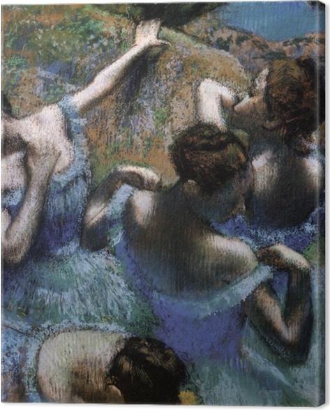 Leinwandbild Edgar Degas - Tänzerinnen in Blau - Reproduktion