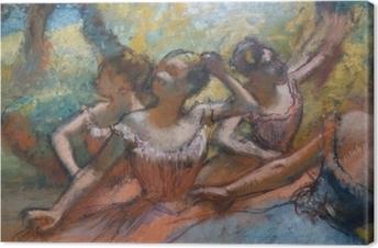 Leinwandbild Edgar Degas - Vier Tänzerinnen auf der Bühne