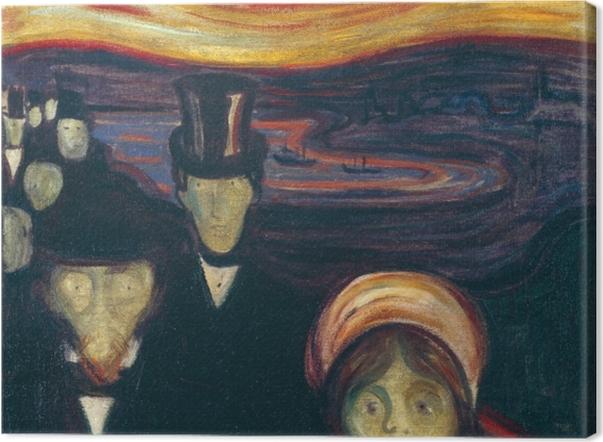 Leinwandbild Edvard Munch - Angst - Reproduktion