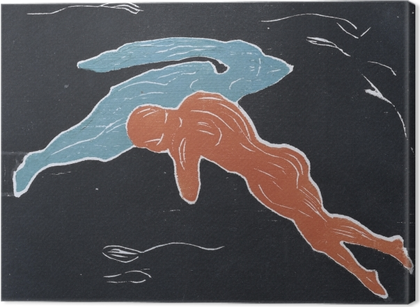 Leinwandbild Edvard Munch - Begegnung im Weltraum - Reproduktion