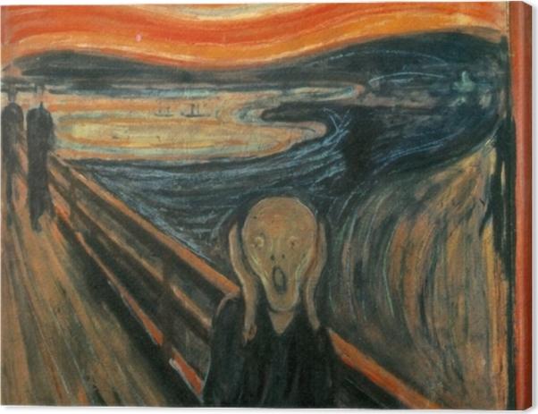 Leinwandbild Edvard Munch - Der Schrei - Reproduktion