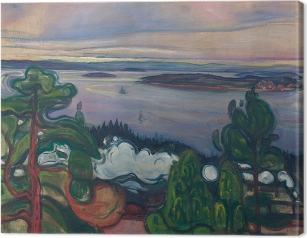 Leinwandbild Edvard Munch - Eisenbahnrauch - Reproduktion