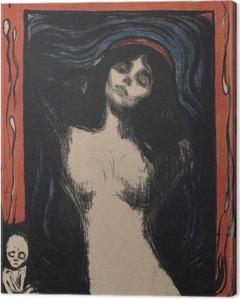 Leinwandbild Edvard Munch - Madonna - Reproduktion