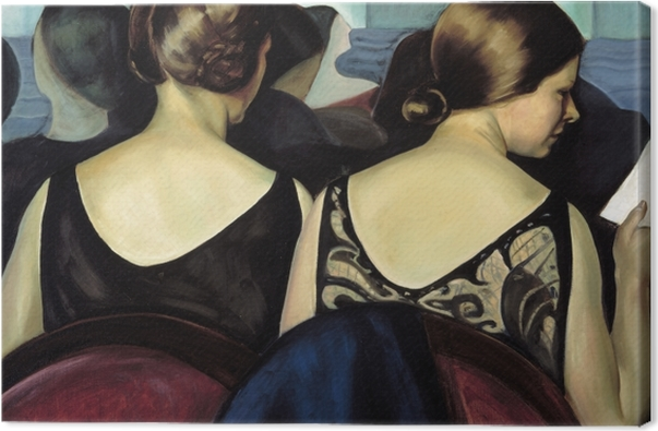 Leinwandbild Efa Prudence Heward - Im Theater - Reproductions