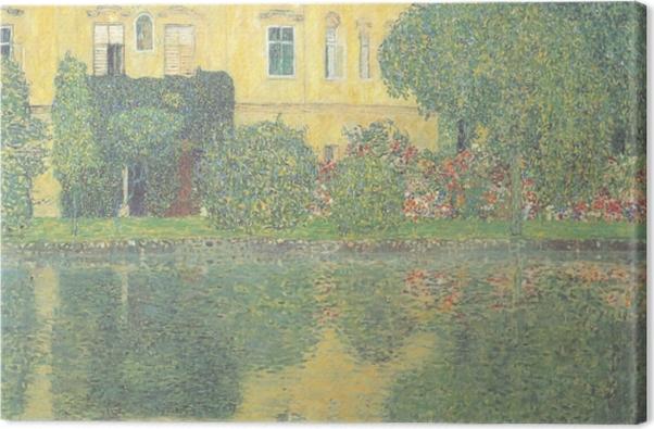 Leinwandbild Egon Schiele - Bäume spiegeln sich in einem Teich wider - Reproduktion