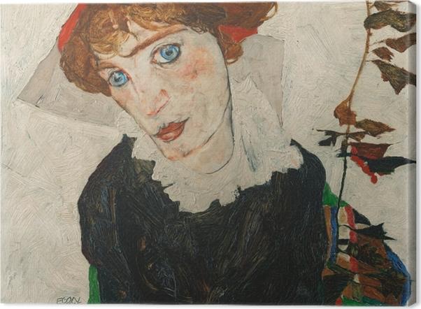 Leinwandbild Egon Schiele - Wally (Bildnis Walburga Neuzil) - Reproduktion