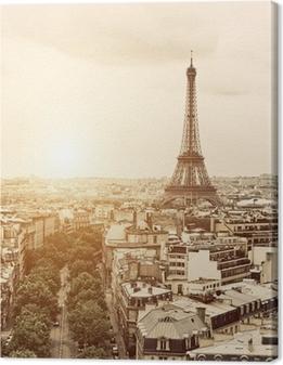 Leinwandbild Eiffel aus dem Arch of Triumph