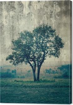 Leinwandbild Ein einzelner Baum darstellen Einsamkeit und Traurigkeit