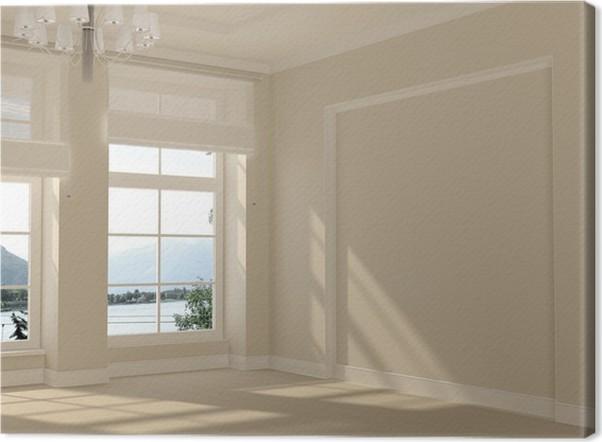 Leinwandbild Ein Heller Raum Mit Panoramafenstern Pixers Wir