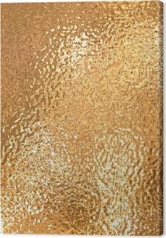 Leinwandbild Ein sehr großes Blatt fein gekräuselte Gold Aluminium-Folie