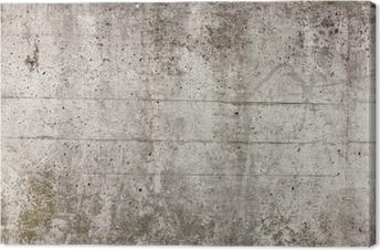 Leinwandbild Eine graue Mauer aus Beton für Hintergrund