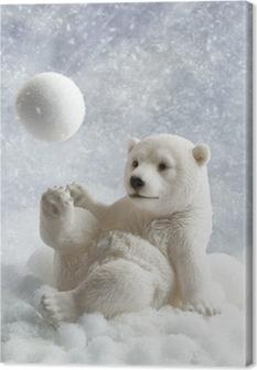 Leinwandbild Eisbär-Dekoration