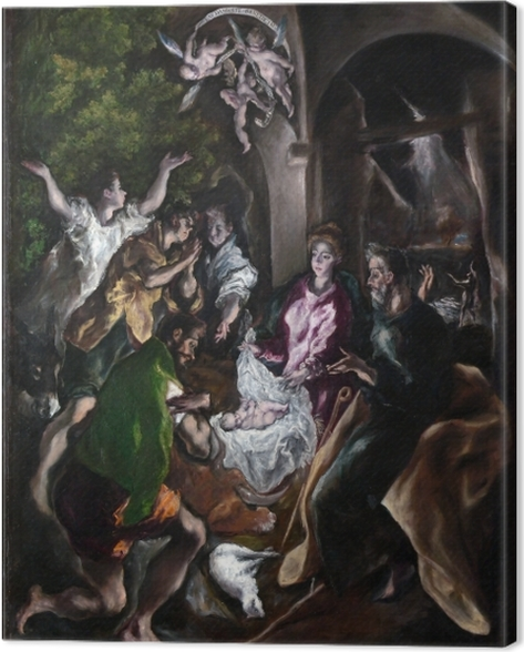 Leinwandbild El Greco - Anbetung der Hirten - Reproduktion