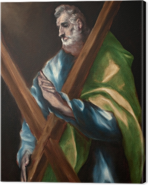 Leinwandbild El Greco - Apostel Andreas - Reproduktion