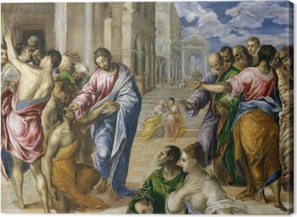 Leinwandbild El Greco - Blindenheilung - Reproduktion