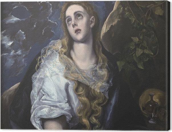 Leinwandbild El Greco - Büßende Magdalena - Reproduktion