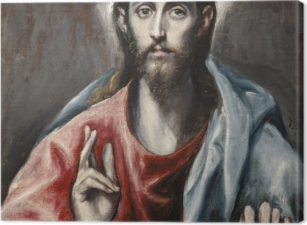 Leinwandbild El Greco - Christus der Erlöser - Reproduktion