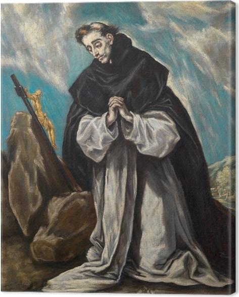 Leinwandbild El Greco - Der heilige Dominikus im Gebet - Reproduktion