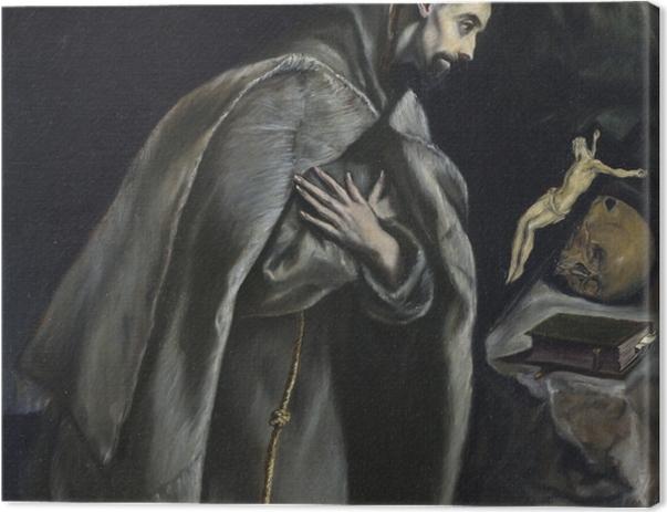 Leinwandbild El Greco - Der heilige Franziskus im Gebet - Reproduktion