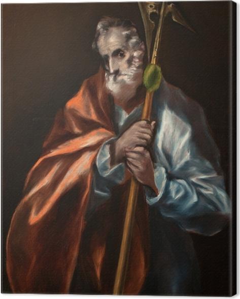 Leinwandbild El Greco - Der heilige Judas Thaddäus - Reproduktion