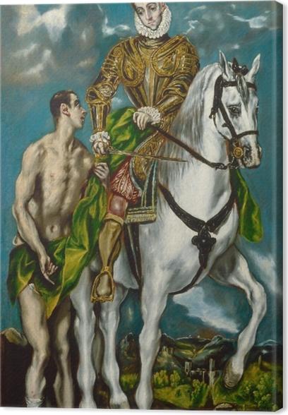 Leinwandbild El Greco - Der heilige Martin und der Bettler - Reproduktion