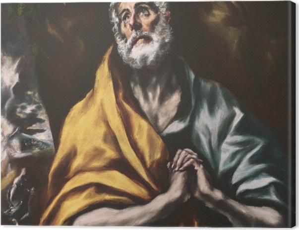 Leinwandbild El Greco - Der reuige heilige Petrus - Reproduktion