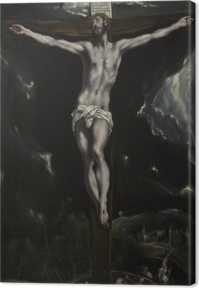 Leinwandbild El Greco - die Kreuzigung - Reproduktion
