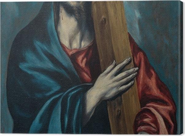 Leinwandbild El Greco - Die Kreuztragung Christi - Reproduktion
