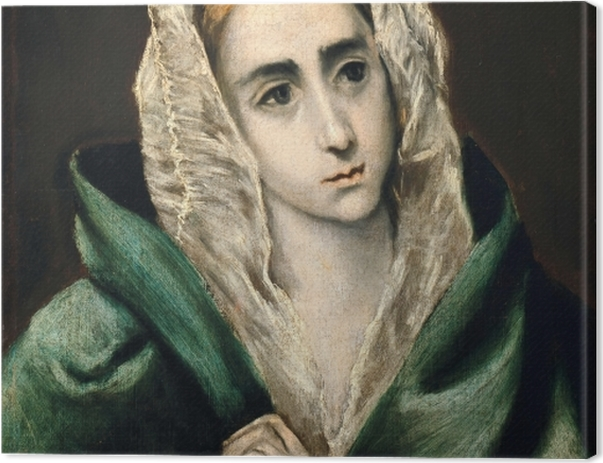 Leinwandbild El Greco - Mater Dolorosa - Reproduktion