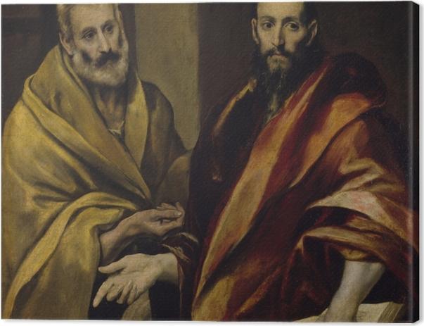 Leinwandbild El Greco - Petrus und Paulus - Reproduktion
