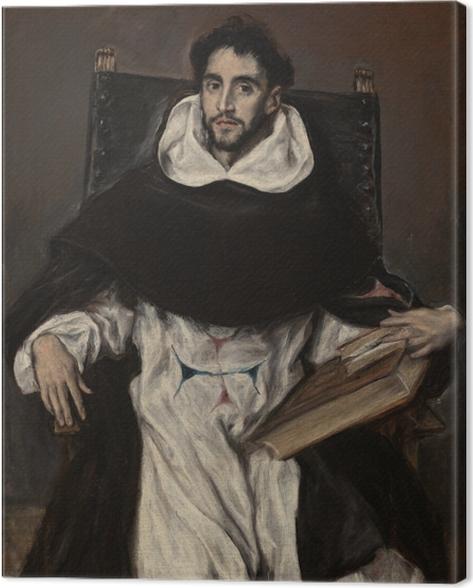 Leinwandbild El Greco - Porträt des Fray Hortensio Félix Paravicino - Reproduktion