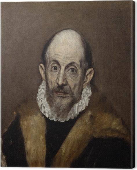 Leinwandbild El Greco - Porträt eines älteren Mannes - Reproduktion