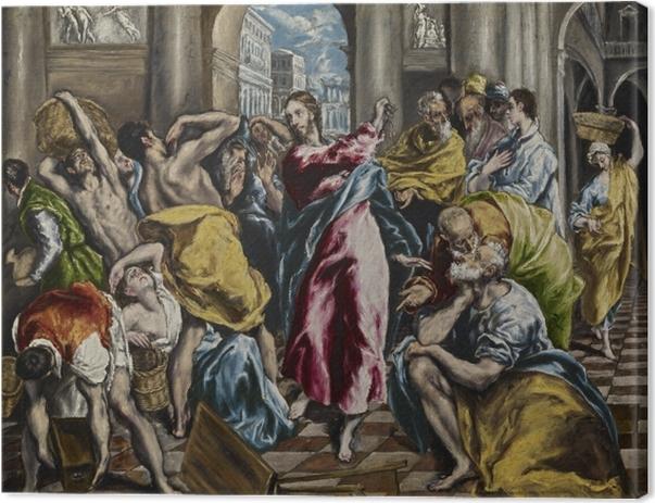 Leinwandbild El Greco - Tempelreinigung - Reproduktion