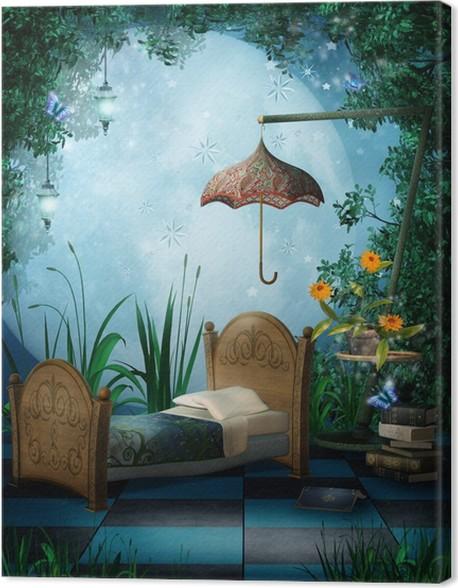 Leinwandbild Enchanted Schlafzimmer mit Laternen • Pixers® - Wir ...