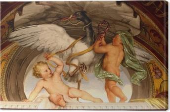 Leinwandbild Engel-Spiel mit einer Gans-Malerei - Vatikan Museum