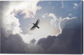 Leinwandbild Engels-Vogel im Himmel