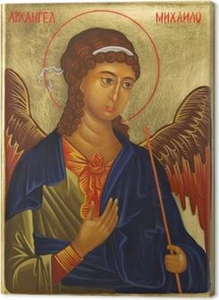 Leinwandbild Erzengel Michael Icon