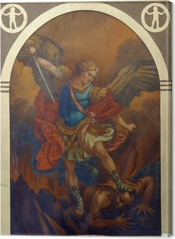 Leinwandbild Erzengel Michael