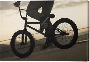 Leinwandbild Fahrrad-Weinlese