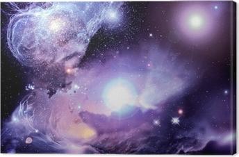 Leinwandbild Fantasy Space Nebula